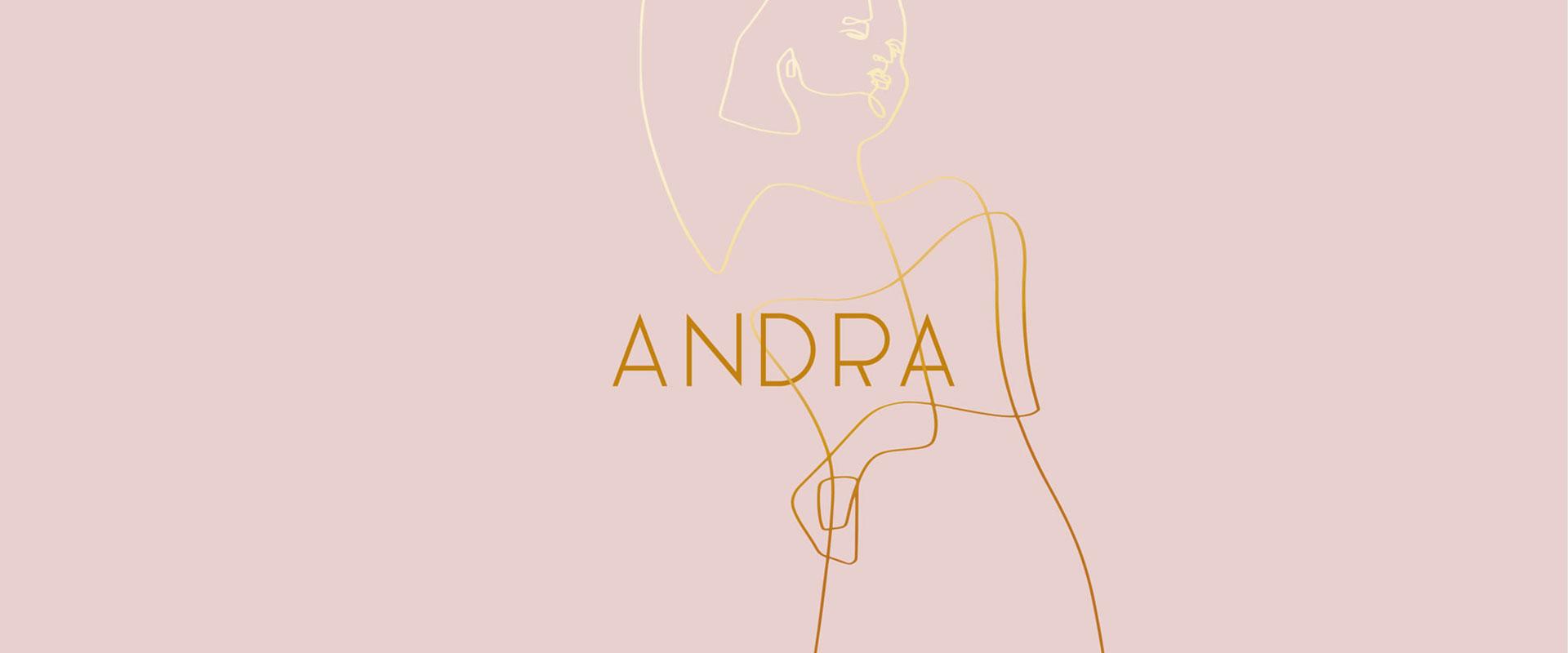 Andra Wine. Linien, die eine Frau zeichnen.