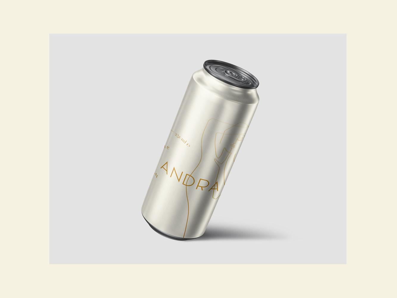 Das Bild einer Dose. Andra Wine La Blanca.